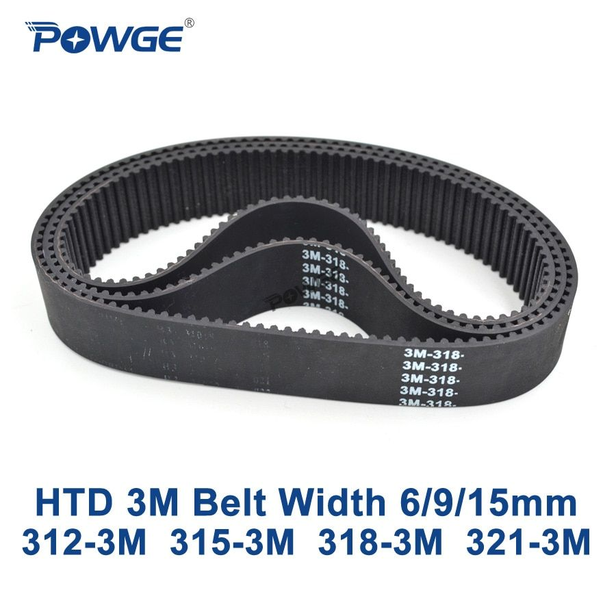 POWGE HTD 3 Mt zahnriemen C = 312 315 318 321 breite 6/9/15mm Zähne 104 105 106 107 HTD3M synchron 312-3 Mt 315-3 Mt 318-3 Mt 321-3 Mt
