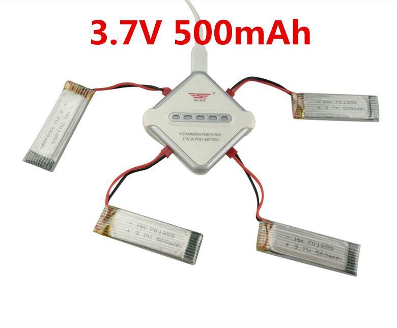 JST de $ number puertos Cargador + 4 unids BLL Envío Libre 3.7 V 500 mAH de La Batería Para UDI U817A U818A U818 WLtoys V929 V949 V959 V222 S032 H107N