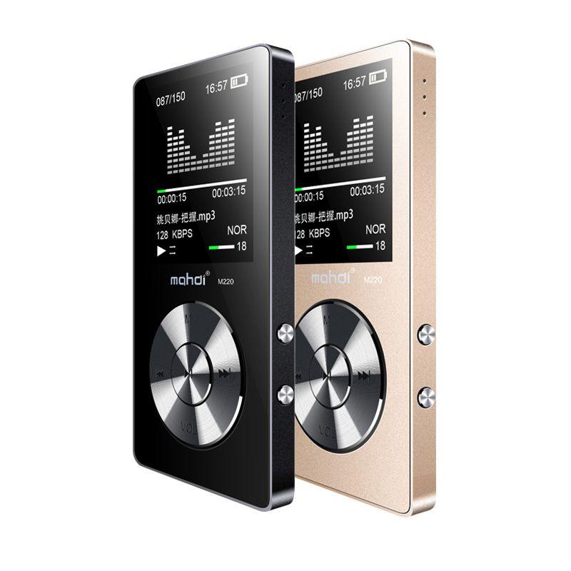 NOUVEAU Sport MP3 Lecteur Avec Haut-Parleur 8G 80 Heures Full Metal MP3 Lecteur de Musique Avec Écran Enregistreur Vocal Vidéo bras Courroie D'écouteur