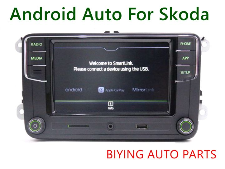 Android Auto CarPlay MirrorLink Noname RCD330 Plus R340G 6.5 MIB Radio With Green Backlight For Skoda Octavia Fabia Superb Yeti