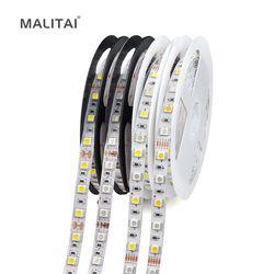 1Roll 5M 5050 LED Strip light Tape DC 12V RGB RGBW RGBWW Holiday Decoration lamp LED String Ribbon 60LEDs/M, Waterproof
