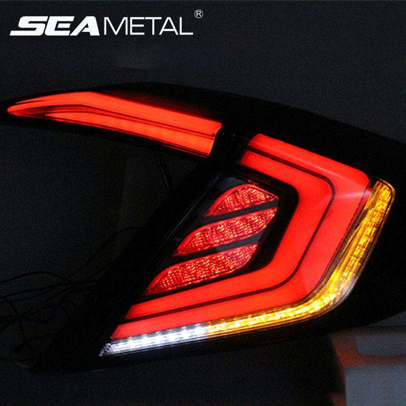 For Honda Civic Taillights 10th Sedan 2017 2018 2016 12V Car Tail lights Taillight Rear Lamp Turning+Reversing+Fog+Brake light