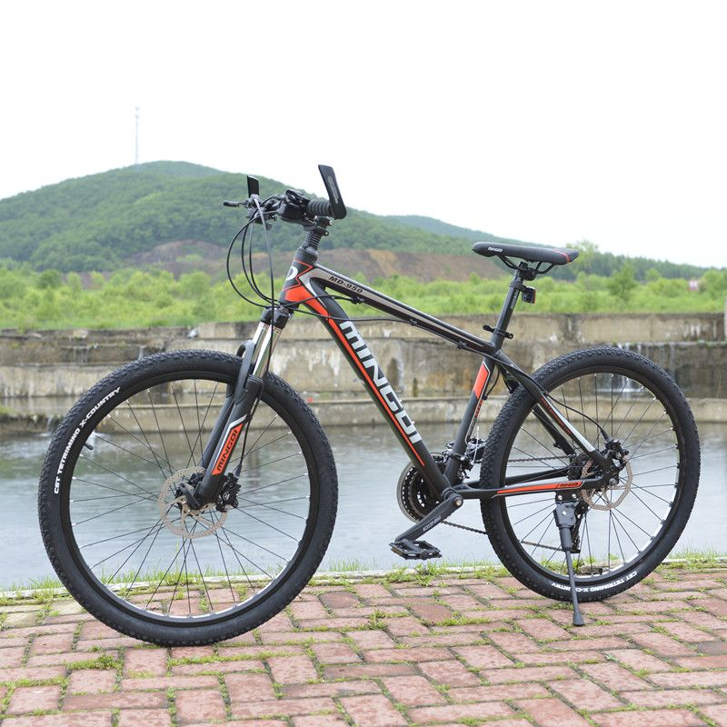 Mountain self propelled aluminum alloy 26 bicycle 27 speed shock absorption bicycle oil pressure double disc brake bearing 150 k