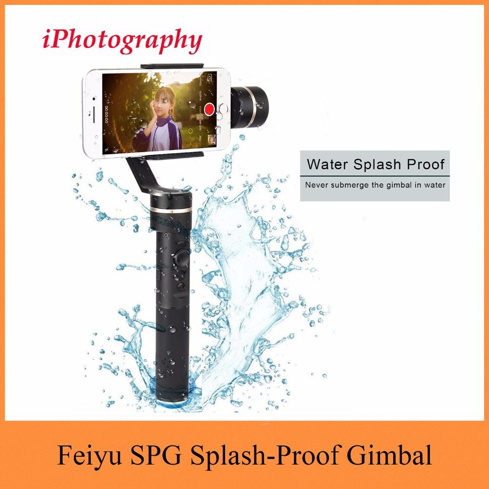 Feiyu SPG Upgraded Version 3 Axis Splash-Proof Design Handheld Stabilizer Gimbal for iPhone 7 Plus 7,6 Plus 6 for SAMSUNG Galaxy