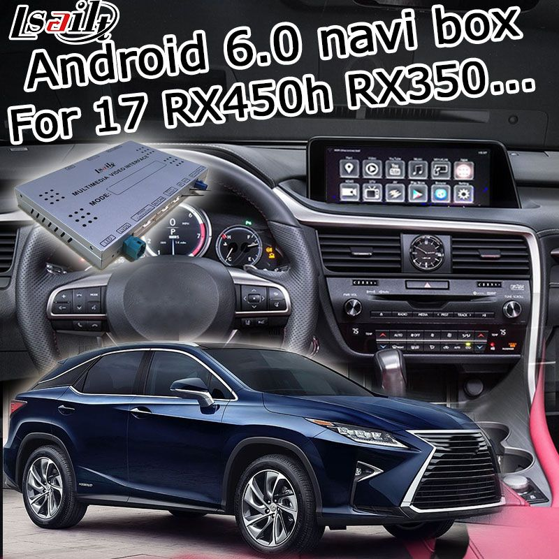 Android 6.0 GPS navigation box for Lexus RX 2016-2017 12.3 video interface with knob mouse remote touch control RX350 RX450
