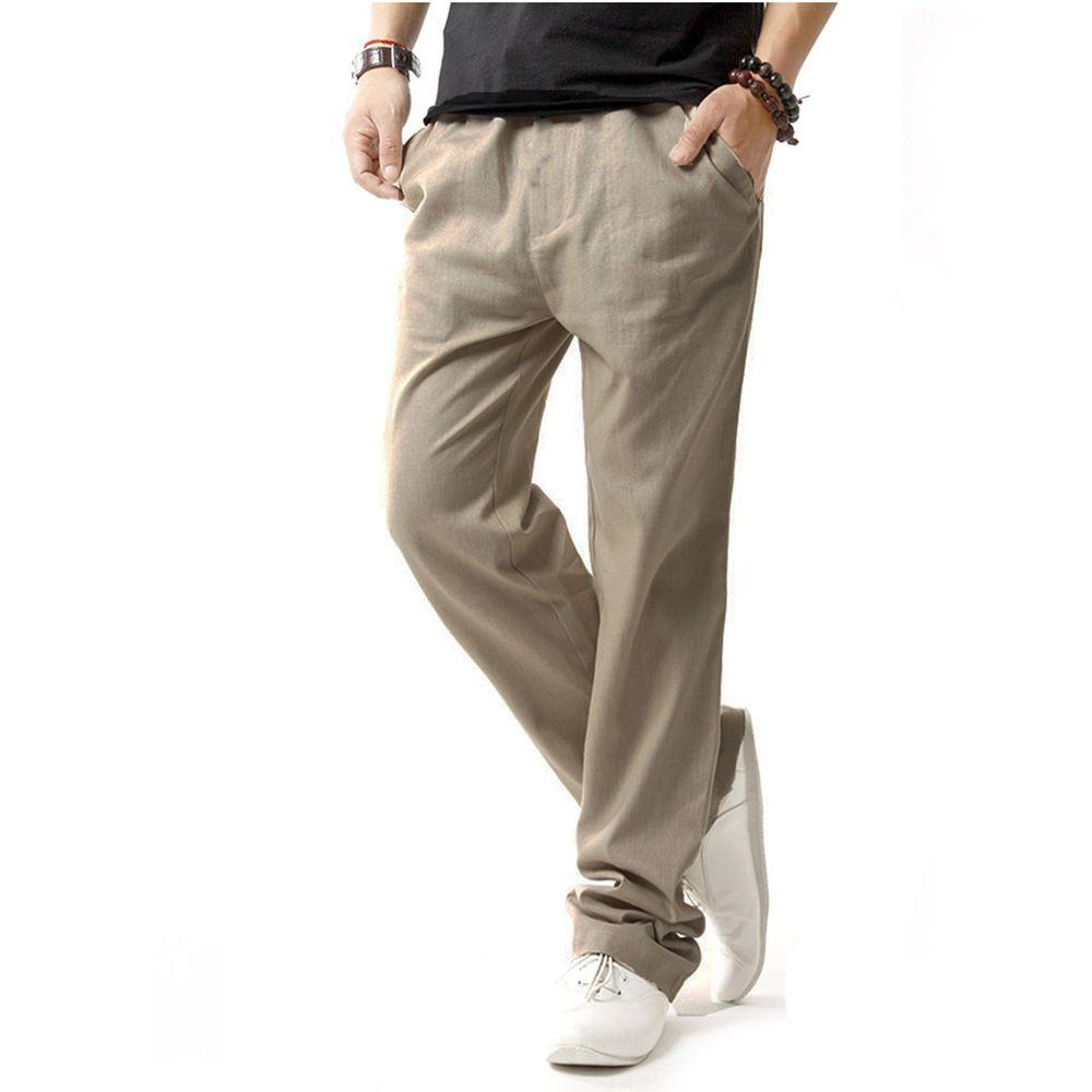 2018 Fashion Spring Men Pants Sweatpants Fleece Liner Warm Long Trousers Solid Sportswear