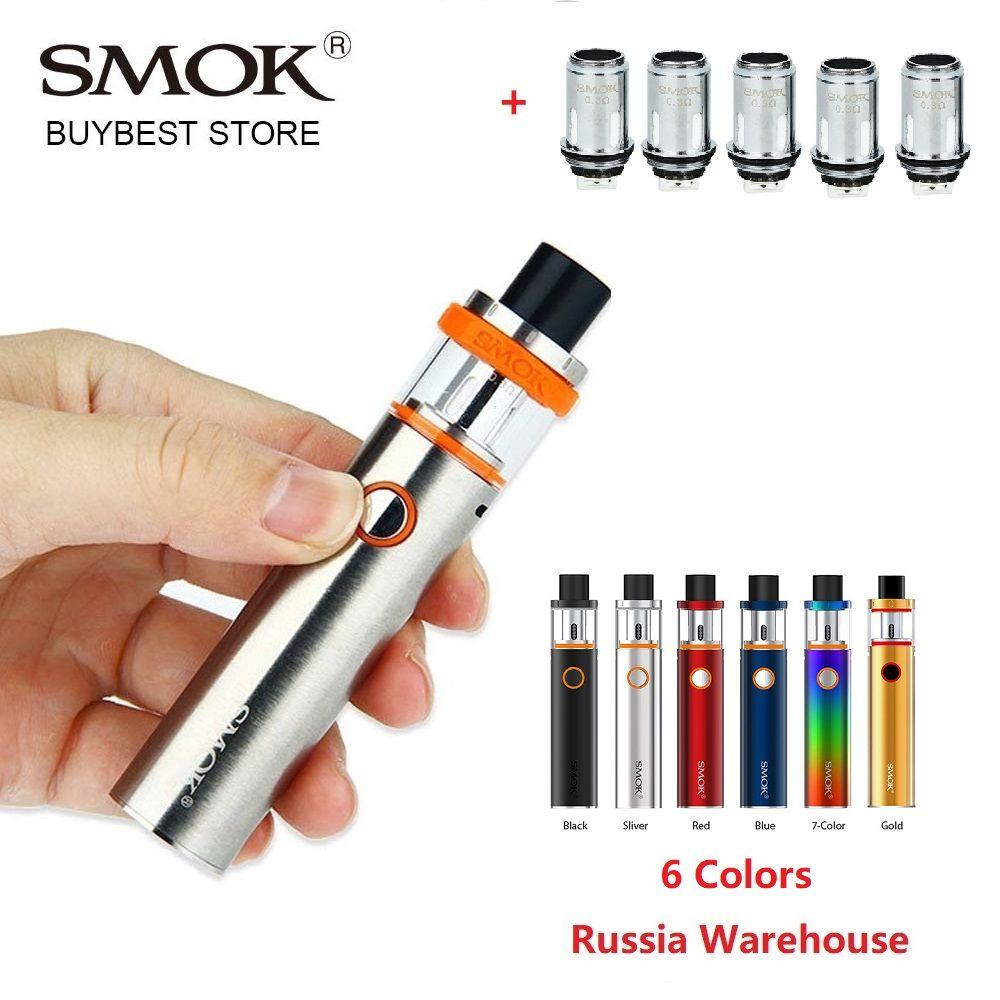 Kit Original de stylo de Vape de Smok 22 avec la batterie 1650 mah intégrée kit de vape de cigarette électronique de réservoir sans fuite avec le double noyau de 0.3ohm