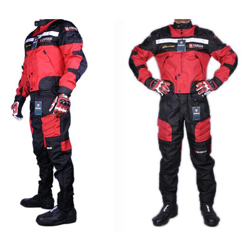 1 SET jackets&pants high quality DUHAN summer motorcycle jacket pants racing Oxford waterproof motocross suit motorbike jacket