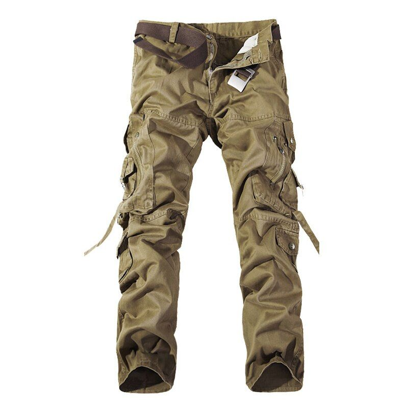 Top quality men military camo cargo pants leisure cotton trousers cmbat camouflage overalls 28-40 AYG69