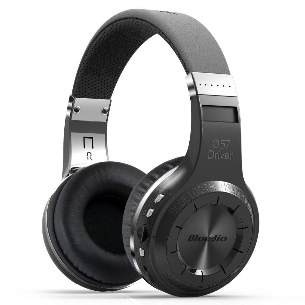 Original Bluedio H + Bluetooth stéréo casque sans fil Super basse musique lecteur Mp3 casque avec micro FM BT5.0 casque