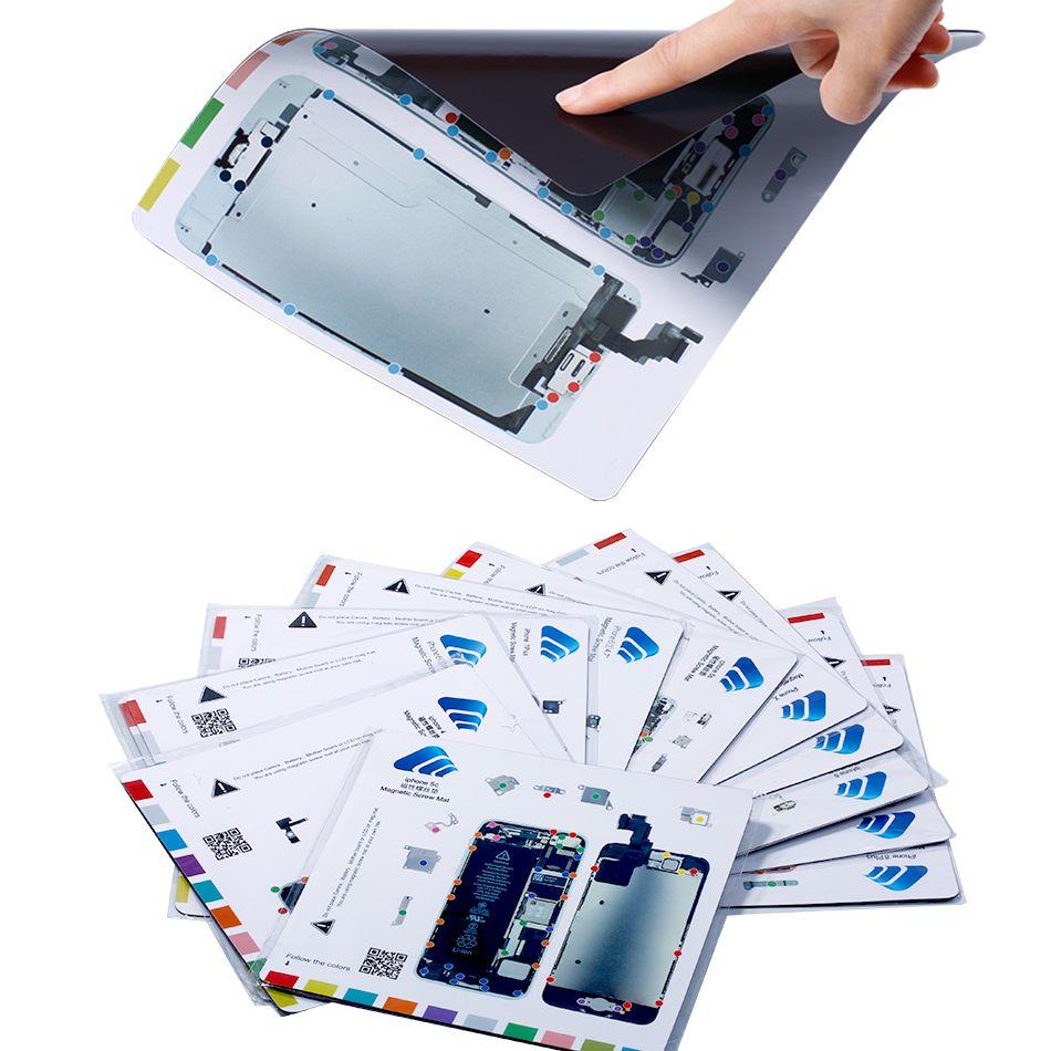 Magnetic Screw Mat For Apple iPhone 6S/6SP/7/7P/8/8P/X Professional LCD Screen Opening repair tool Mat Work Guide pad