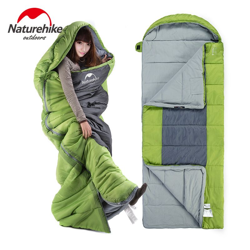 Naturehike Adult sleeping bags outdoor camping large widening thickening winter keep warm cotton fleece sleeping bag