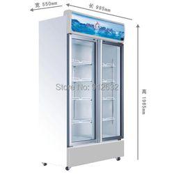 488L commerciale verre réfrigérateur 2 porte en verre, vertical Réfrigérateurs vitrine