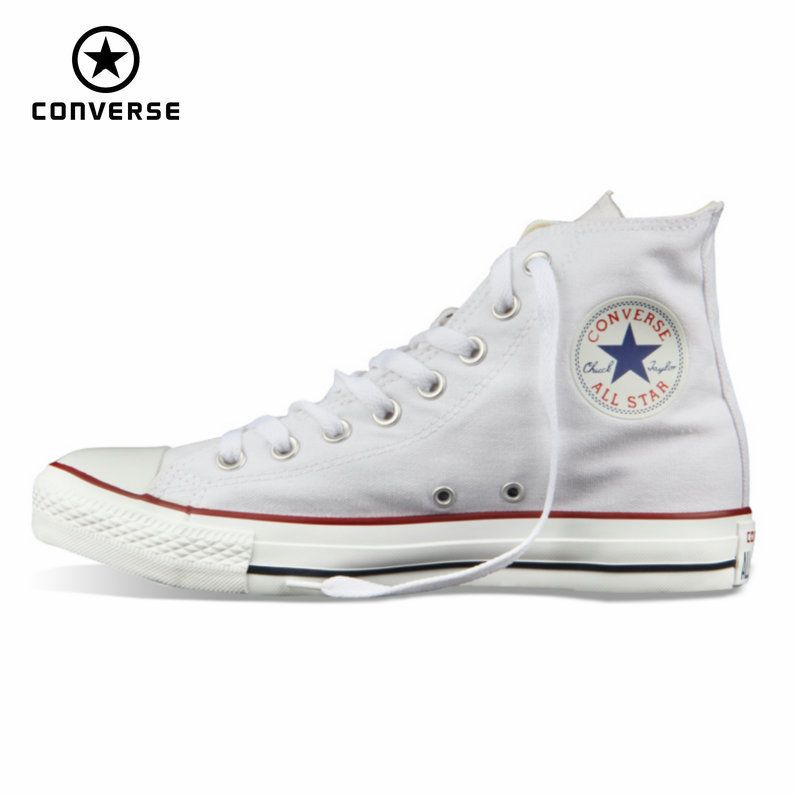 Original Converse all star shoes men women's sneakers canvas shoes all black <font><b>high</b></font> classic Skateboarding Shoes free shipping