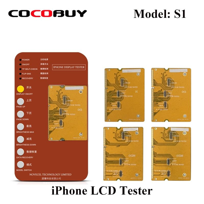 Display Touchscreen Digitizer Tester werkzeug iPhone X XS XR XSMAX Test Motherboard LCD frontscheibe panel touch funktion prüfung