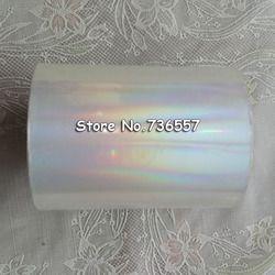 Holographic Foil Polos Transparan Foil Hot Stamping Pada Kertas atau Plastik 8 cm x 120 m/Lot DIY Paket kotak