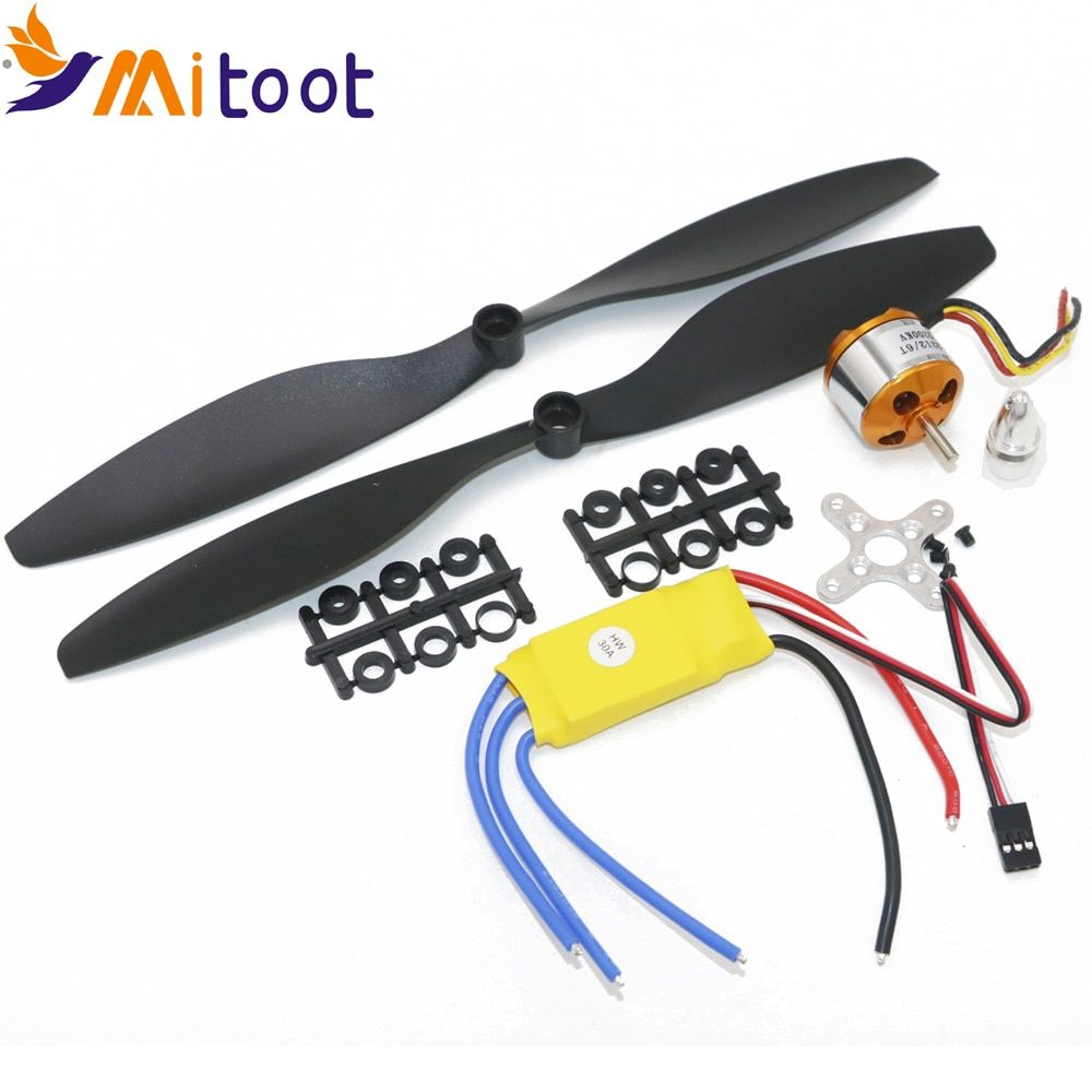 A2212 1000KV 2200 Brushless Outrunner <font><b>Motor</b></font> +SimonK 30A ESC+1045 Propeller(1 pair) Quad-Rotor Set for RC Aircraft Multicopter