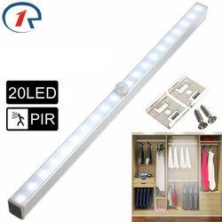 Zjright nuevo 20 luces LED ahorro de energía automático del sensor de movimiento PIR inalámbrico gabinete cocina dormitorio armario escalera interior lámparas de pared