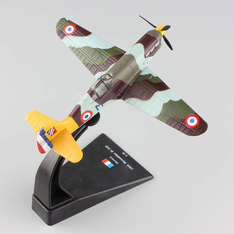 1/72 scale miniature AMER World War II aircraft fighter diecast France 1941 Dewoitine D.520 plane replica warplane model Toys