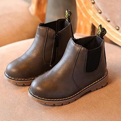 New 2016 Winter Children Shoes PU Leather Snow Boots kids Warm Boys Warm Boots Girl Platform Shoes Size 21-36 829 D