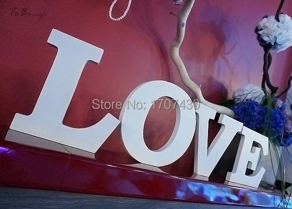 Entrar boda del amor , letras de madera , decoración de la boda , envío Plataforma Decor gratuito