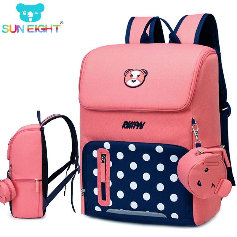 2018 Orthopedic Backpack Girl School Bags Zipper Kid School Bag Cute Children Knapsack School Bag For Girl RUIPAI