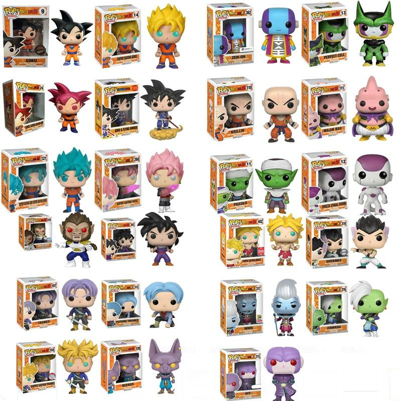 Funko Pop Anime Dragon Ball Z Super Saiyan vinyle figurine Collection jouets pour enfants