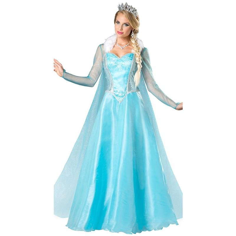 VASHEJIANG adulte Elsa princesse Costume Anime Fantasia princesse Cosplay vêtements femmes Kigurumi Anime Halloween costume pour les femmes