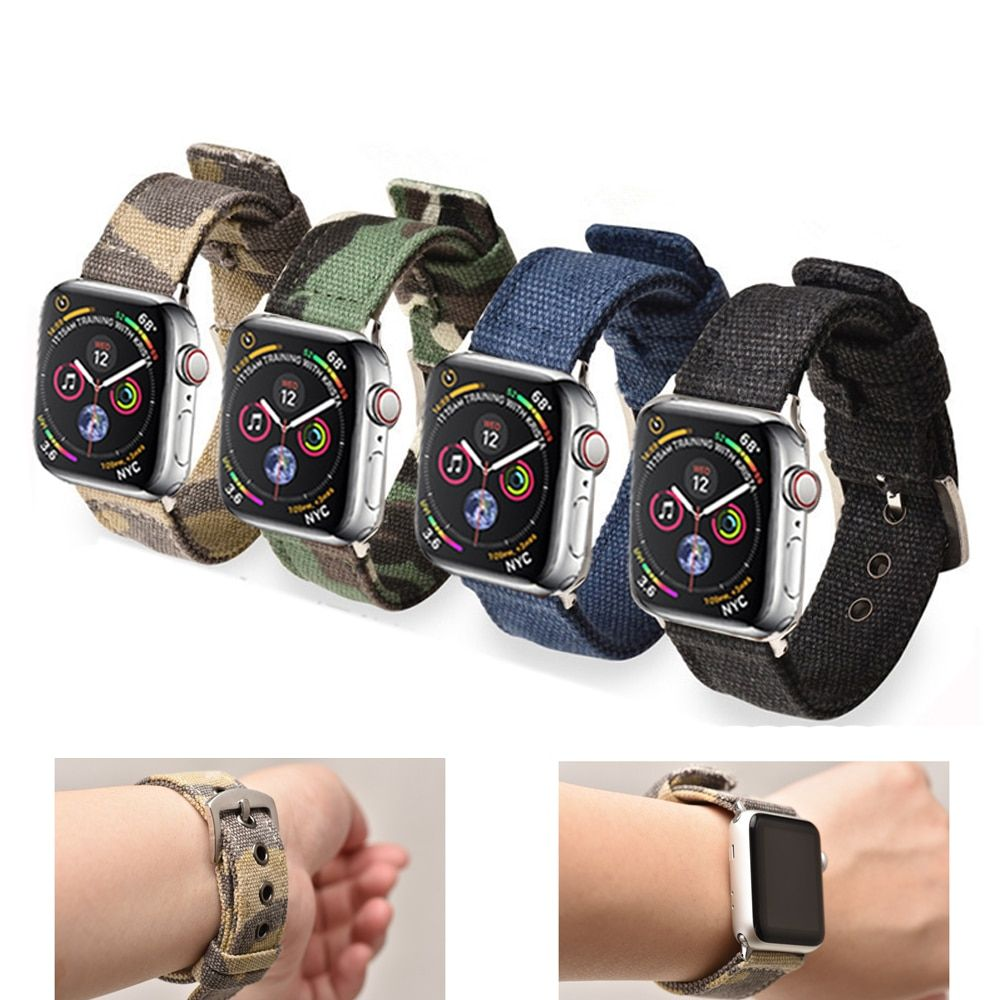 CRESTED Sport Nylon strap for apple watch 4 44mm 40mm iwatch band 42 mm 38mm watchband bracelet apple watch 3 2 1 Accessories