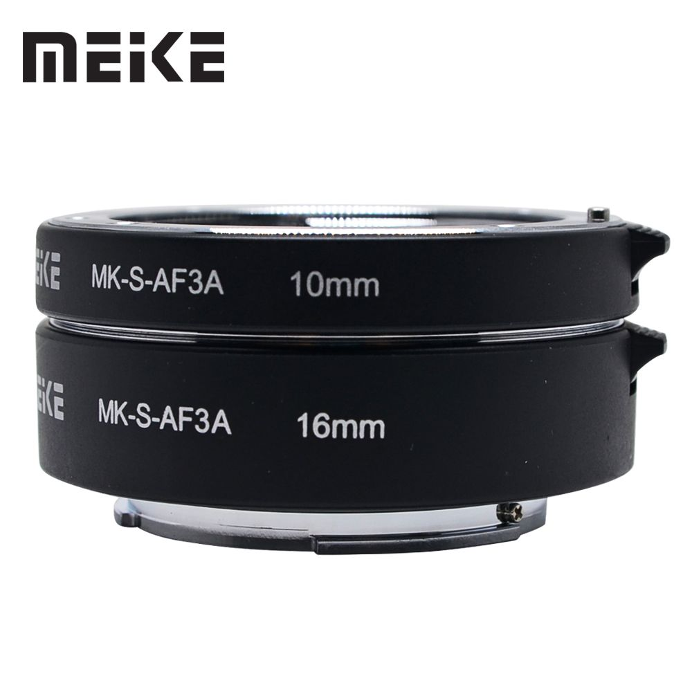 Meike Auto Focus Macro Extension Tube Adapter Ring 10mm 16mm für Sony E-Mount A7 A7II A7III a6000 A6300 A6500 NEX-5R NEX-7 A6400