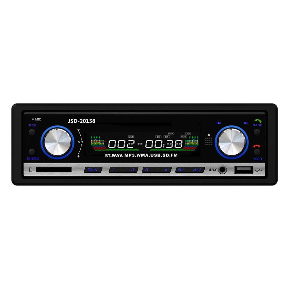 2016 Новинка 12 В Стерео FM Радио mp3 аудио плеер Поддержка Bluetooth телефон с USB/SD MMC Порты и разъёмы Электроника для автомобиля в тире 1 DIN
