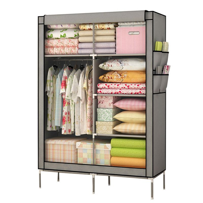 YOUUD Popular Closet Organizer Collection Multilayer Shelves Clothes Storage Organizer Wardrobe