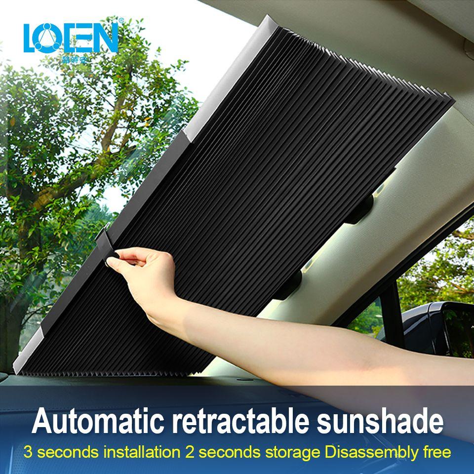 Pare-soleil de fenêtre de voiture pare-brise rétractable pare-soleil couverture bouclier rideau pliable Auto pare-soleil bloc Anti-UV pare-brise de voiture