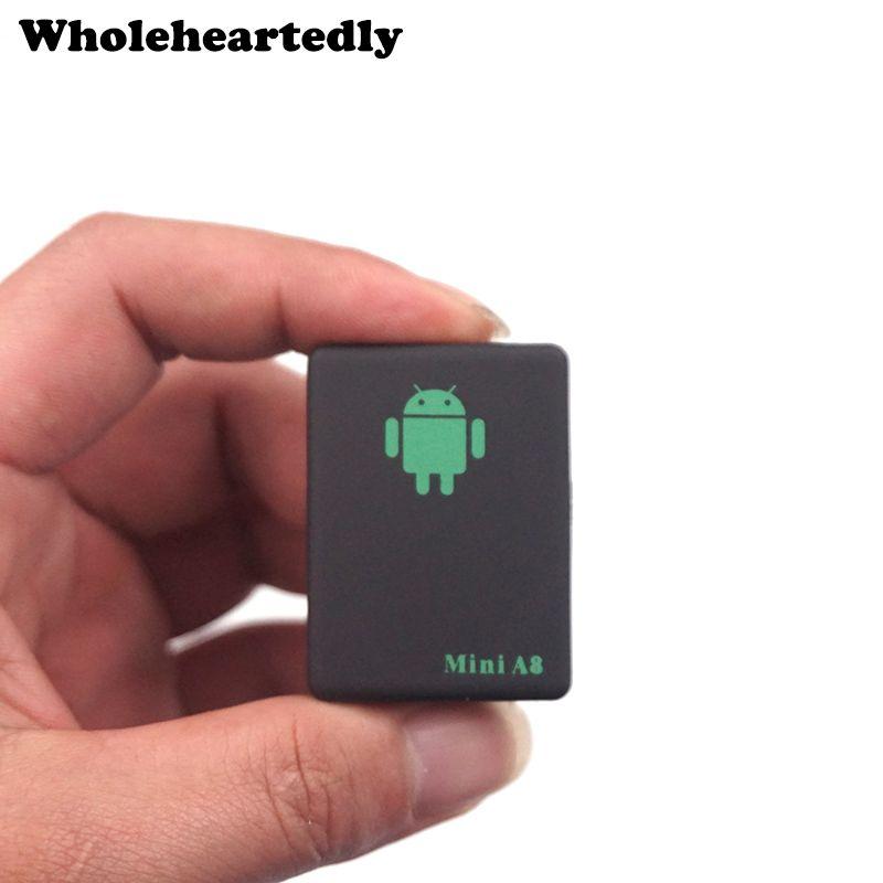 Dispositif de suivi automatique Global de sécurité GSM en temps réel Mini Tracker A8 avec bouton SOS pour voitures enfants animaux de compagnie pas de traqueur GPS