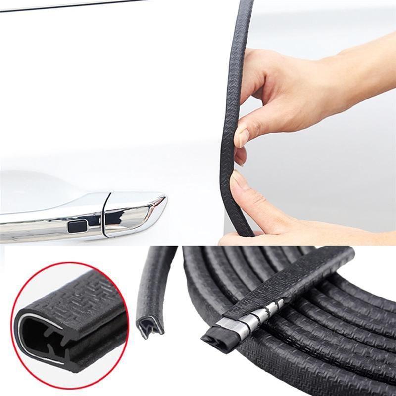 Bande universelle de protecteur de rayure de bord de porte de voiture 5 M/10 M garniture de garde autocollants de porte d'automobile décoration bande autocollant voiture-style