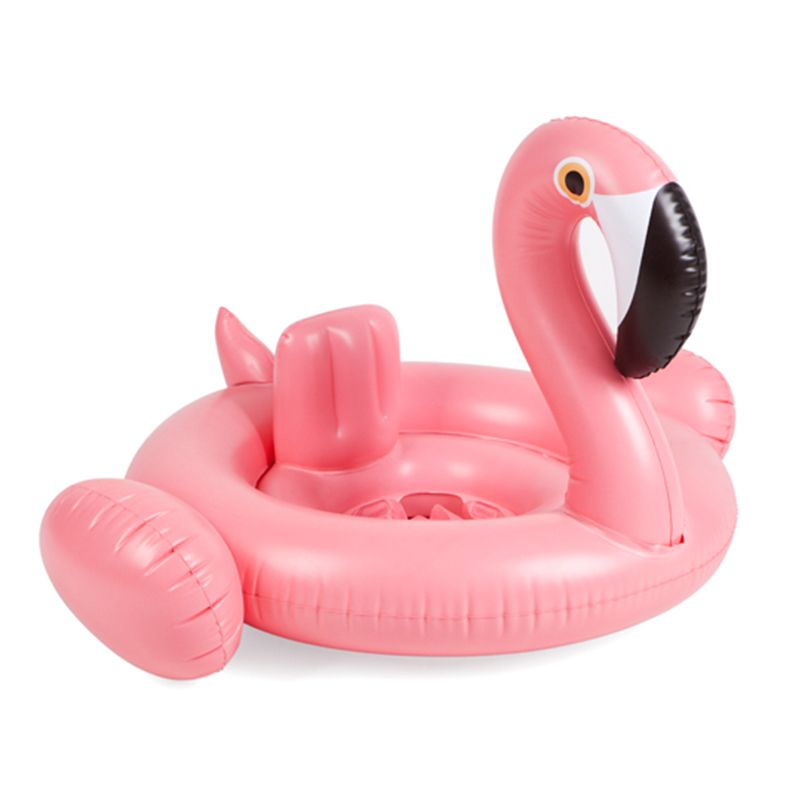Hot Sale Summer Baby Pink Flamingo Swimming Ring Inflatable Swan Swim Float Water Fun <font><b>Pool</b></font> Toys Swim Ring Seat Boat Kid Swimming