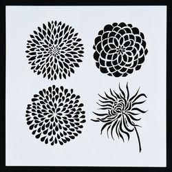 1 PC Soleil fleur Réutilisable Pochoir Airbrush Peinture Art DIY Décoration scrapbooking Album Artisanat