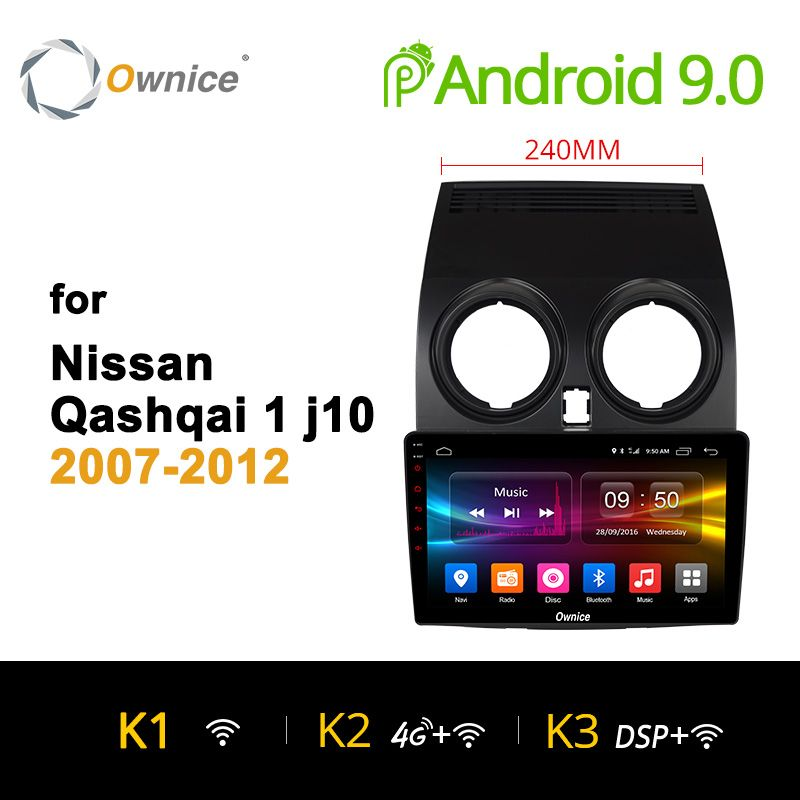Ownice K1 K2 K3 Octa Core Android 9.0 Auto radio stereo für Nissan Qashqai 2007 2009 2010 2011 2012 dvd GPS player 32G 4G LTE