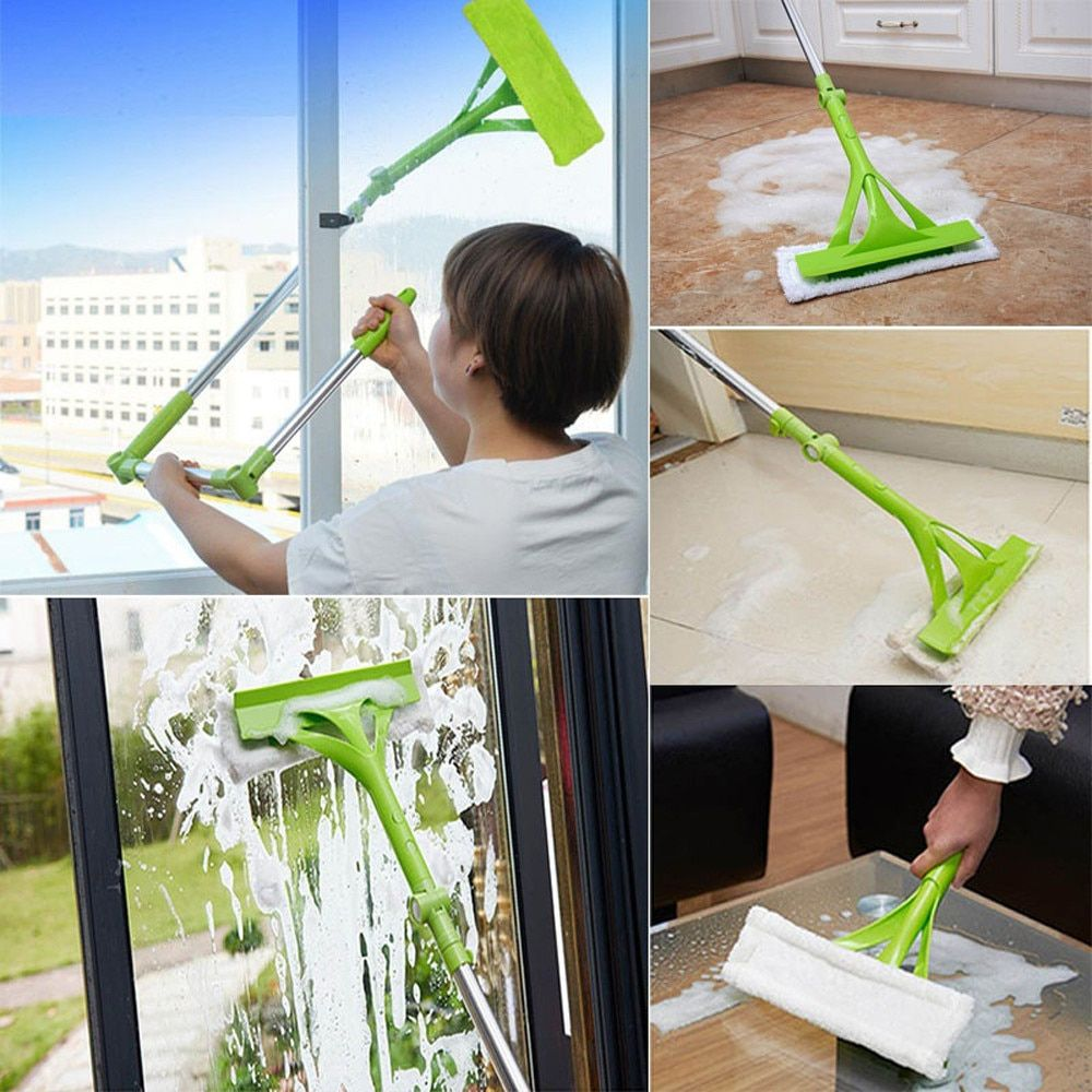 2018 Hot Selling Telescopic Foldable Handle Cleaning Brushes Glass Sponge Mop Fur Cleaner Window Extendable Windows Brushes