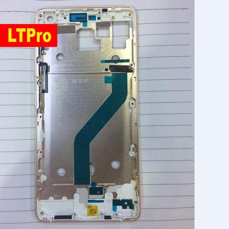 LTPro 100% Ursprüngliche Qualität Gold Frontblende/Mittleren Frame Gehäuse Abdeckung Für Lenovo zuk z2 pro + power Volumen flexkabel + tasten