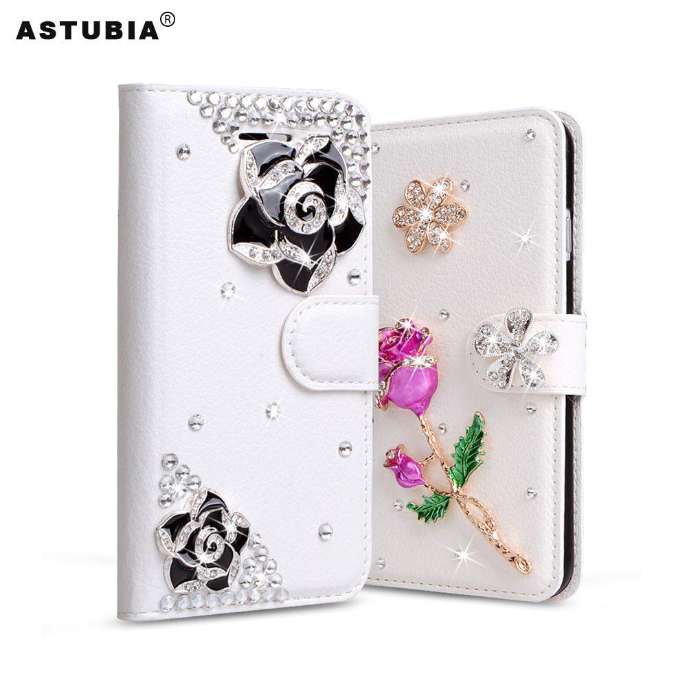 Case For Xiaomi Redmi Note 4X Case Cover Glitter Rhinestone Case For Redmi Note 4X Diamond Flip Wallet PU Leather Cover Cases