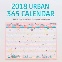 1 PCS Coréenne Mignon de Bande Dessinée Calendrier Mural 2018 A2 365 Jour Calendrier Creative Planning Papier 59*43 cm