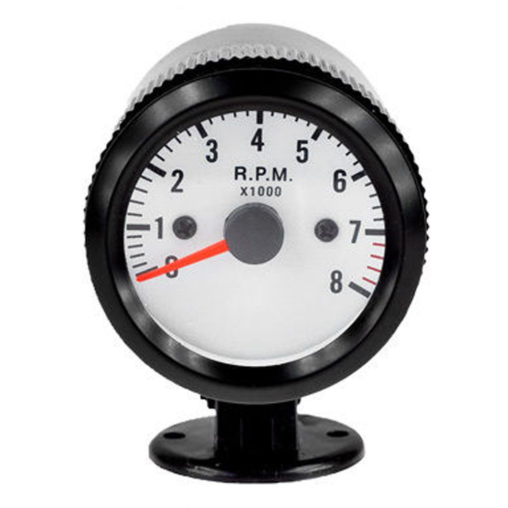 EE support Black Shell White Dial 2 52mm Blue LED Car Tacho Tachometer RPM Gauge Meter Free Shipping XY01