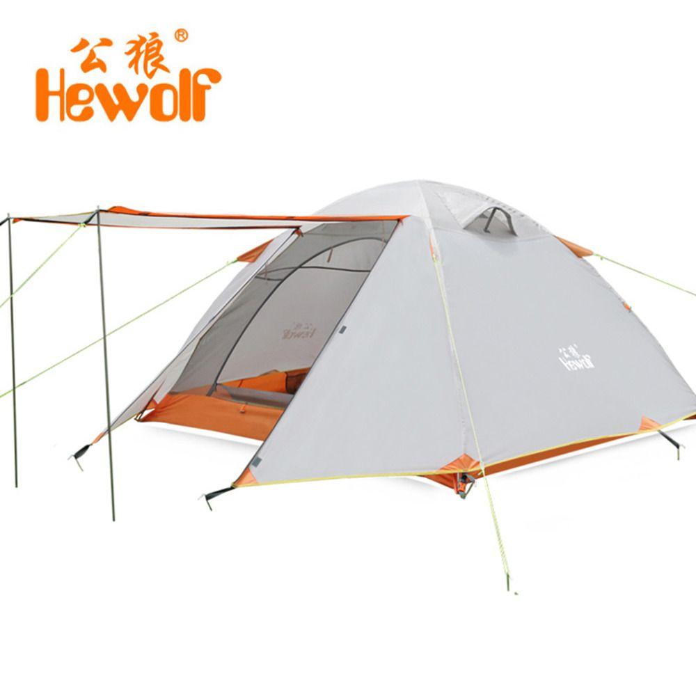 Hewolf Doppelschicht 3 4 Personen-zelte Regendicht Wasserdichte Outdoor-camping-zelt Touristischen Zelt Für Jagd Picknick Wandern Camping