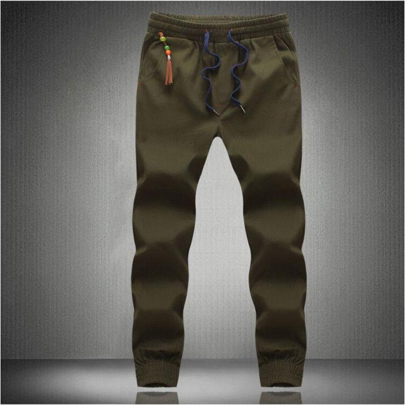 New fashion drawstring men's trousers men's jogging casual pants men's pants 2D2
