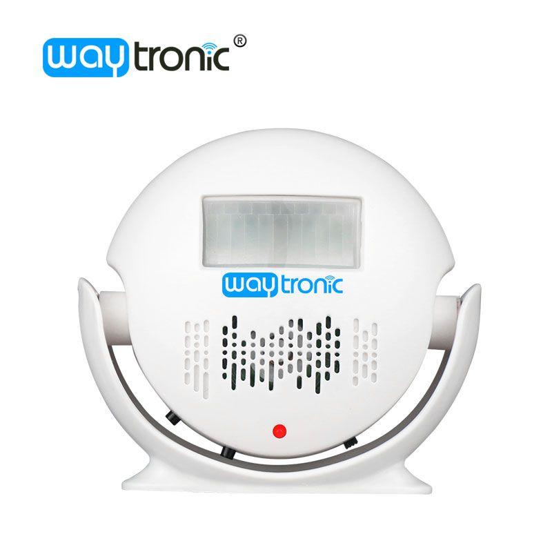 Беспроводной датчик движения, дверной звонок автоматический дверной звонок MP3 аудио плеер приветствуем извещатель сигнализации для магази...