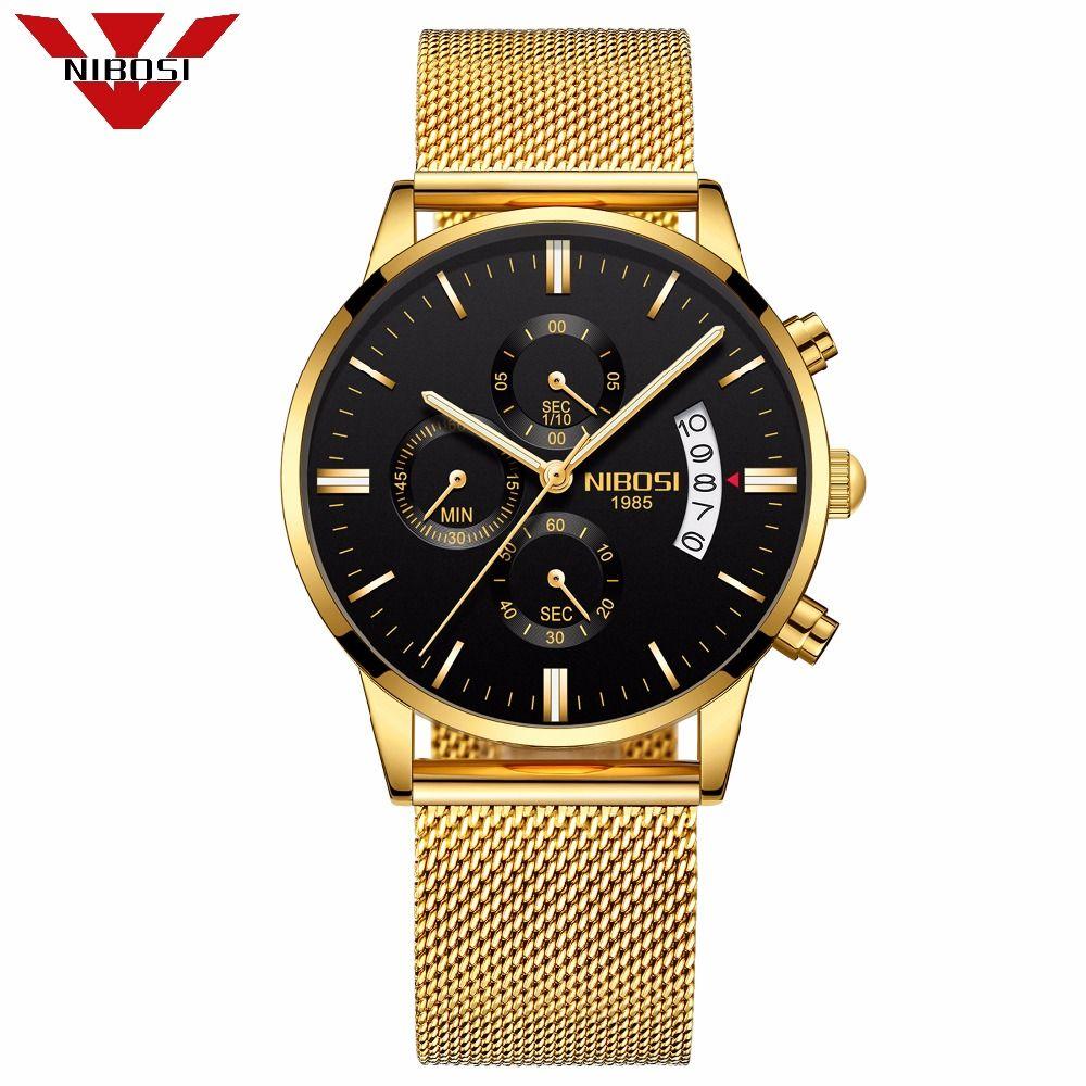 Mens Watch Famous Luxury Top Brand Fashion Watches Relogio Masculino Watches Analog Quartz Wristwatches Mesh Alloy <font><b>Bracelet</b></font>
