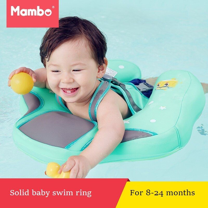 Solid Baby Swimming Ring floating Children Waist no need Inflatable Floats Swimming Pool Toy for Bathtub and Pools Swim Trainer