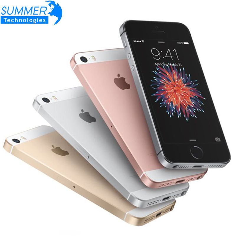 Original Unlocked Apple iPhone SE Smartphone A9 iOS 9 Dual Core 4G LTE 2GB RAM 16/64GB ROM 4.0'' Fingerprint Mobile Phone