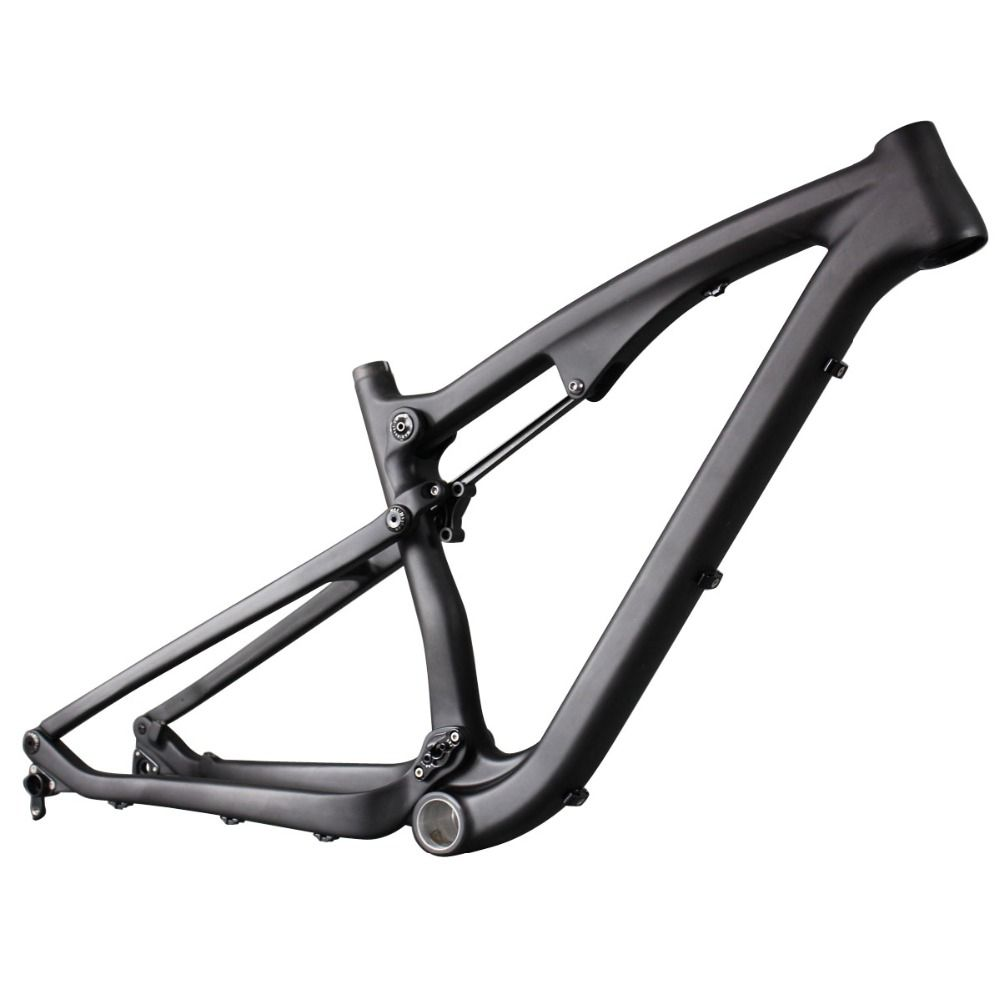 2016 high quality full suspension frame carbon fiber 650B mountain frames 27.5er  mtb bike frame UD matt thru axle compatiable